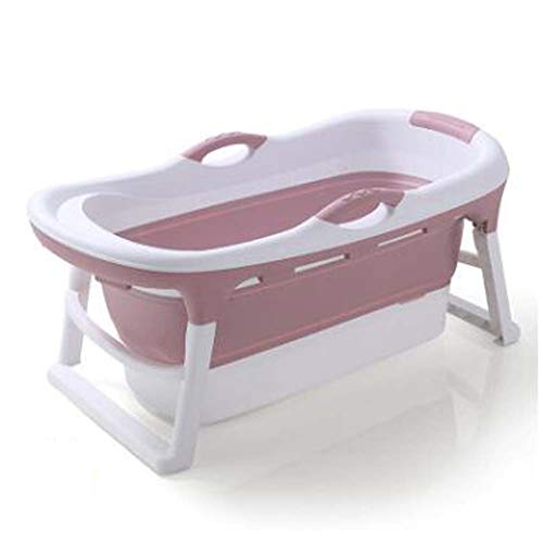 FCDWHJ Babybadewanne, Faltbare Babywanne, Ergonomische Babywanne, Baby-Badewanne für Baby, Kunststoff,Rosa