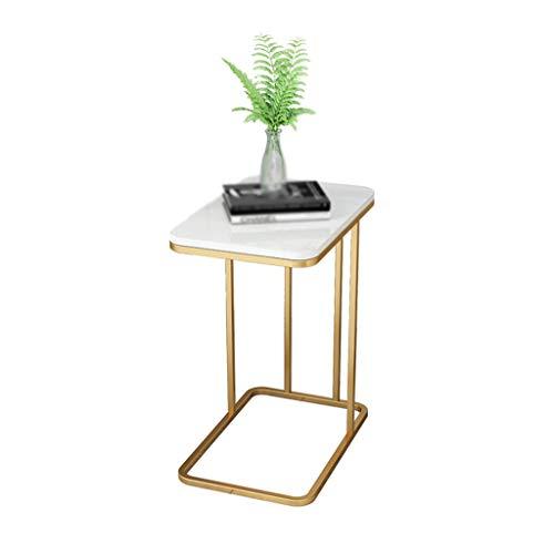 CSQ Marbre Table, Fer Art Jardinière Hôtel de de réception Hôtel Fleur Décoration Support Multifonctions Table Basse Taille: 50 * 30 * 58cm (Color : C