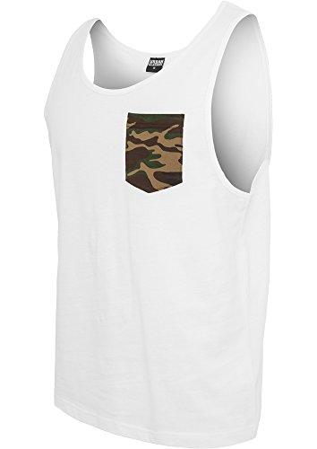 Urban Classics Contrast Pocket Jersey Big Tank Débardeur-Homme,Multicolore (wht/woodcamo 568),X-Large