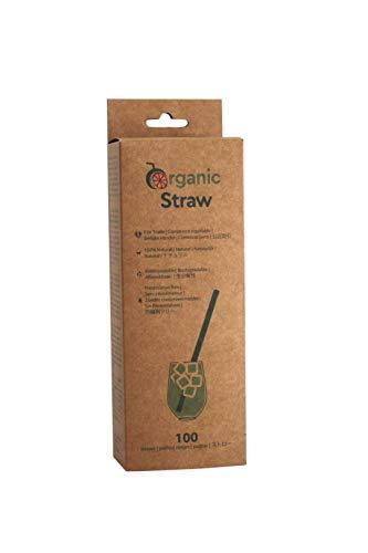 BIOWINK Cannucce vegetali Organic Straws, 20 cm, confezione da 100