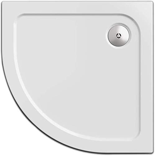 Nordona Duschwanne/Duschtasse SIMPLEX, viertelkreis 90 x 90 cm   Flache Aufbau-Höhe: 5,5 cm   Kompatibel VersoFlat Ablauf