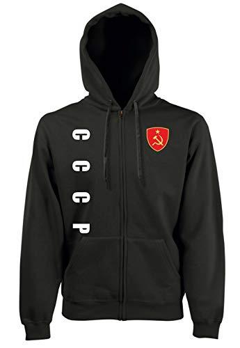 Aprom-Sports CCCP Sowjetuinon ZIP Hoodie Jacke -Kapuzen Sweat Sport Trikot SC Look (XXL)