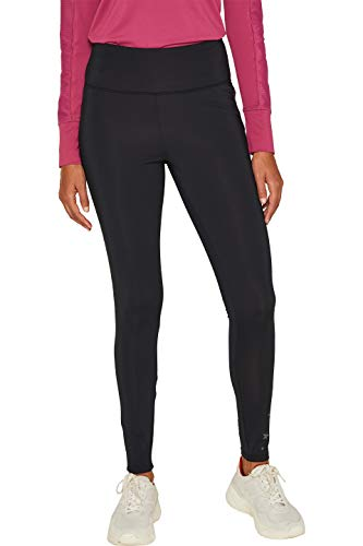 ESPRIT Sports Damen tight edry Sporthose, Schwarz (Black 001), W36 (Herstellergröße: S)