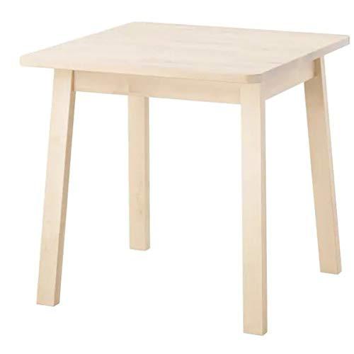 Ikea NORRAKER - Tavolo in legno di betulla, 74 x 74 cm
