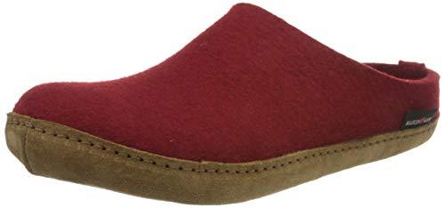 Haflinger Unisex - Erwachsene, Hausschuh, Rot(rubin), 39