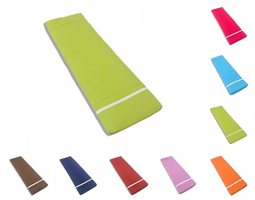 TIENDA EURASIA Cojín para Tumbona Exterior de Jardín - Colores Surtidos - Colchoneta 180 x 55 x 8 cm - Funda de Tela y Relleno Acolchado de Fibra (Verde Pistacho)