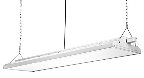 Hyperikon 4 Foot Linear LED High Bay Lights with Motion Sensor, 62000Lm, Hanging Shop Light, UL, Crystal White, 480 Watts