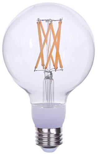 Goodlite G-20130 Filament 100 Watt Equivalent, G30 Edison Style,1600 Lumens, Medium E26 Base LED Light Bulb Dimmable, Clear, Cool White 4100k