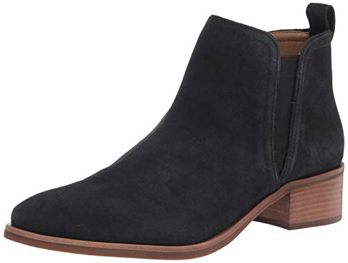 Lucky Brand womens Pogan Bootie Chelsea Boot, Black Leather, 8 US