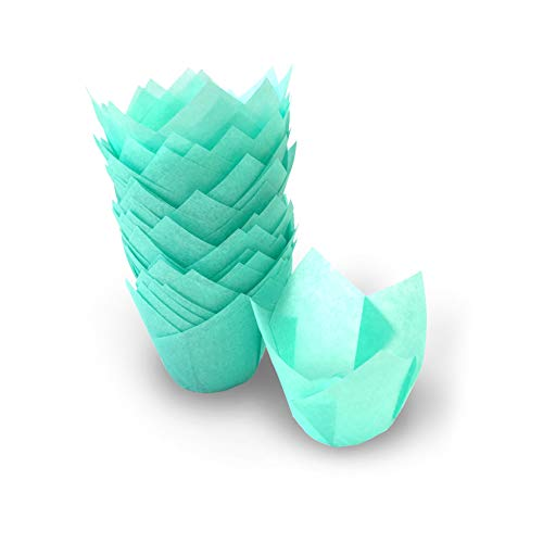 Lot de 200 petits caissettes à muffins Idéal pour les canapés de tailles différentes (vert pastel/turquoise)