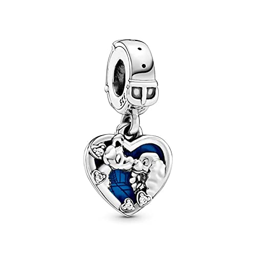 Auténtico Pandora 925 Colgante De Plata Esterlina Diy Genuino Miss And The Tramp Charm Beads Fit Pulsera Collares Mujeres Fabricación De Joyería Fina