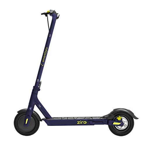 """Patiente eléctrico SMARTGYRO Ziro Patinete Eléctrico Scooter, Motor de 500W, App para Smartphone, Ruedas de 10"""" Neumáticas, Plegable, Batería de 8.8 Ah, Adultos Unisex, Azul, Mediano"""