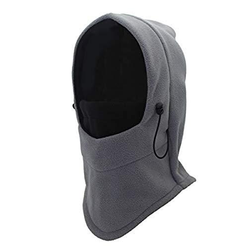 cjixnji cjixnji Winter Balaclavas Skimaske,Unisex Sturmhaube Gesichtshaube Nackenwärmer Motorradmaske für Outdoor Winter Fahrradmütze Schal Vlies-Windundurchlässige Sport Maske Hut (Grau)