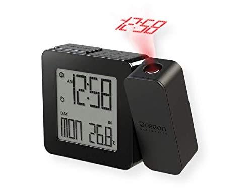 Oregon Scientific 138959 - Reloj Despertador atómico, Color Negro