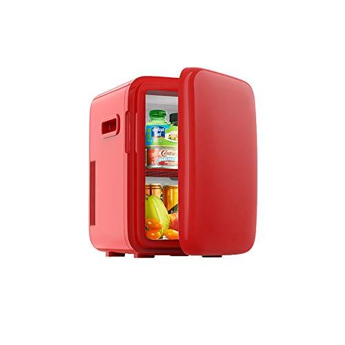CROW Minikühlschrank, Weinflaschenkühler, Autokühlschrank, Thekenkühlschrank, Massivholztür mit Eisbox, Minikühlschrankkühler, Kompaktkühlschrank, Haus, Büro, Autokühlschrank-red