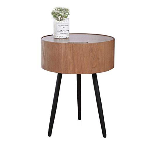 coffee table. Small round table. Small square tabl - Tablas de extremo de madera maciza, mesa de la sala de estar redonda, con espacio de almacenamiento, diseño de cubierta incorporado, soportes de ma