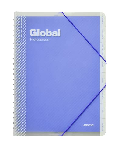 Additio P172 Carpeta Global Evaluación + Agenda + Tutoría + Reuniones - color azul
