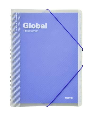 Additio P172 Carpeta Global Evaluación + Agenda + Tutoría + Reuniones Azul