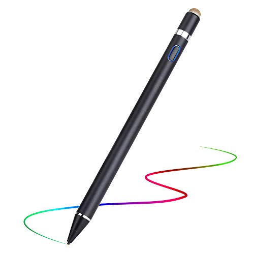 Stylus Pen Compatible with Apple iPad,Smooth Penil Tip,Magnetically Attaches to iPad Pro 11(1st/2nd)/Pro 12.9(3rd/4th),Compatible with iPad 6th/7th/Air 3rd/Mini 5th,Black