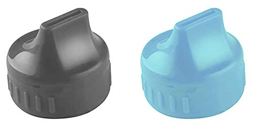 2 Pack Parent Units Travel Light Sippin' Spouts Turn Bottle into Sippy Cup (Blue/Gray)