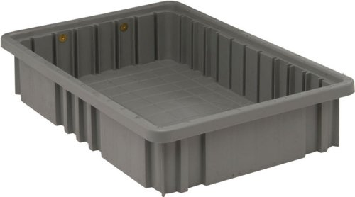 Quantum Storage DG92035GY Dividable Grid Storage Container, 16-1/2' L x 10-7/8' W x 3-1/2' H, Gray (Pack of 12)