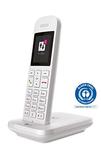 Telekom Sinus 12 in Weiß Festnetz Telefon schnurlos, 5 cm Farbdisplay, beleuchtete Tastatur | Anschlussunabhängige Nutzung an Allen handelsüblichen Routern und Standardanschlüssen