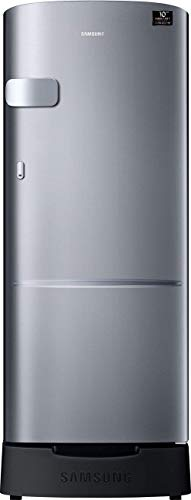 Samsung 192 L 4 Star Inverter Direct Cool Single Door Refrigerator(RR20T1Z2XS8/HL, Elegant Inox, Base Stand with Drawer)