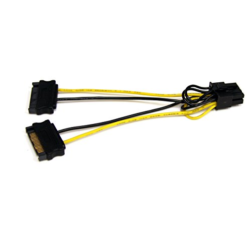 StarTech.com 6in SATA Power to 8 Pin PCI Express Video Card Power Cable Adapter - SATA to 8 pin PCIe power