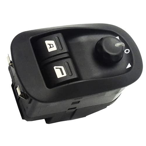 Xiyuncao 6554.WA Botón de Interruptor de Ventana eléctrica de Coche, para Peugeot 206 CC 206 SW Vauxhall SIGNUM Interruptor de Control de Ventana eléctrica