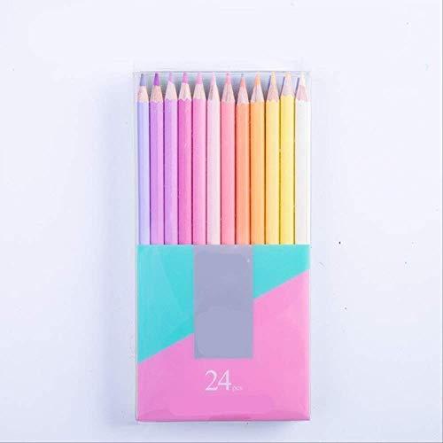 Buntstifte BLTLYX 12/24 Neue Weiche Trendige Pastell Farben Ungiftig Ecolor-bleistift Farbige Bleistifte Für Schulbedarf Kinder 17,5 cm 24 Pastellfarben