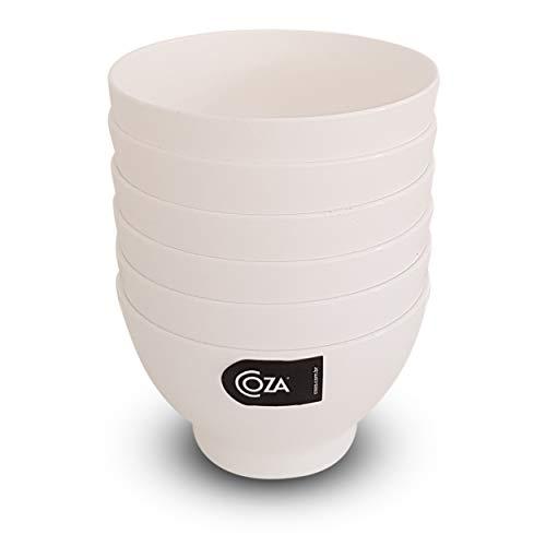 COZA DESIGN 6-Piece Bowl Set, 17 oz, White