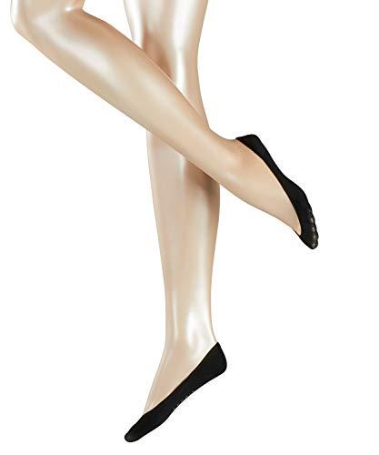 ESPRIT Damen Füßlinge Basic 2-Pack - Baumwollmischung, 2 Paar, Schwarz (Black 3000), Größe: 39-42