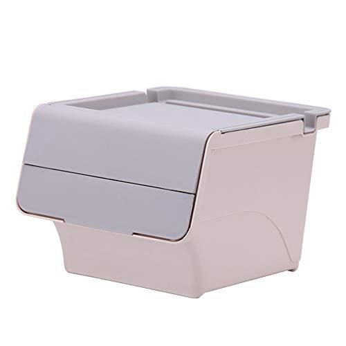 HDJX Desktop opbergdoos, sundries briefpapier afwerkingsdoos kantoor kan worden gestapeld opbergdoos bureau opbergmand