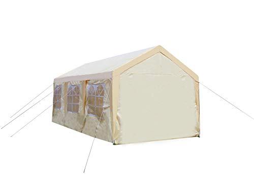 GOJOOASIS 3x6m Faltpavillon, Pavillon mit 180g/m² PE Plane, UV Schutz Partyzelt&Gartenzelt, Wasserdicht Festzelt, 8 Seiten Zelt für Auto (3x6 m)