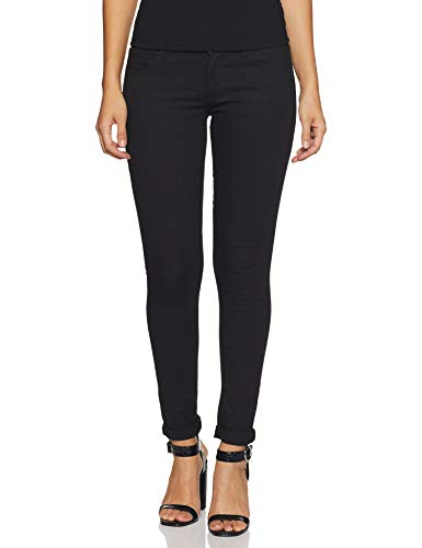 Spykar Women's Casual Slim Jeans (SEL-01AG-12_Black_26)