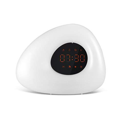 Reloj despertador LED decorativo, con función de repetición, para leer en la mesita de noche, para decoración del hogar, fácil set de regalos