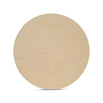 Wood Circles 12 inch 1/4 Inch Thick Birch Plywood Discs Pack of 5 Unfinished Wood Circles for Crafts Wood Rounds by Woodpeckers