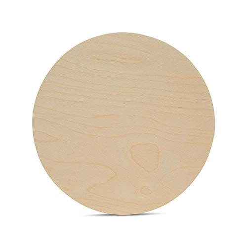Wood Plywood Circles 12 inch, 1/4 Inch Thick, Round Wood Cutouts, Pack of 3 Baltic Birch Unfinished Wood Plywood Circles for Crafts, by Woodpeckers