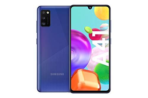 Samsung Galaxy A41 Android Smartphone ohne Vertrag, 3 Kameras, 6,1 Zoll Super AMOLED Display, 64 GB/4 GB RAM, Dual SIM, Handy in blau,