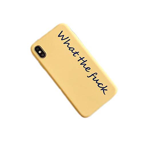 ZHYLIN - Carcasa para iPhone 11 Pro Max con letras para iPhone X XS XR Max 8 7 6 S Plus 11 Pro MAX (silicona suave), silicona, iPhone 11 Pro., Amarillo