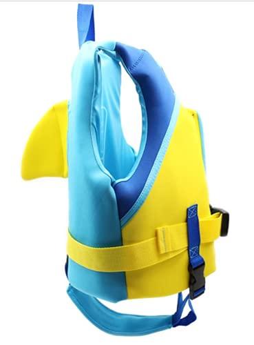 Chaleco de natación Infantil Chaqueta de flotabilidad de Seguridad para niños pequeños,Azul,S