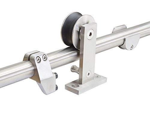 KINMADE YAMA Stainless Steel Sliding Barn Door Hardware Kit 10FT (Two 1525mm) Track Single Door Kit