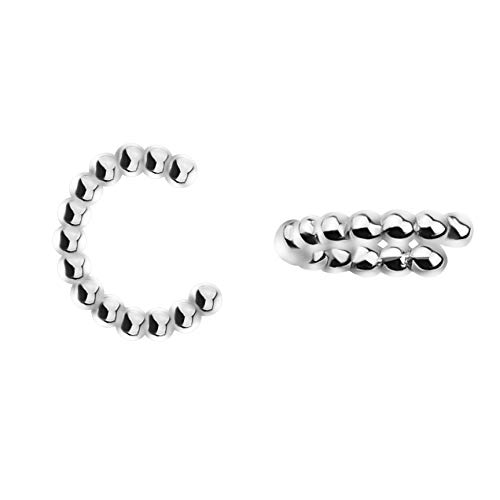 SOFIA MILANI - Damen Ohrringe 925 Silber - Fake Piercing Manschette Ohr - 20748