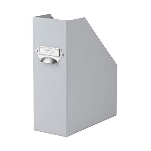Rössler 1318452171 S.O.H.O. - Revistero archivador (A4, 115 mm, tirador, compartimento metálico para etiqueta, diseño de malla), color gris