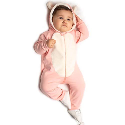 Macacão Bebê Menina Orelhinha e Pelo (P)