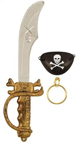 Spada Pirata 37,5 Centimetri Con Benda Sull'Occhio...