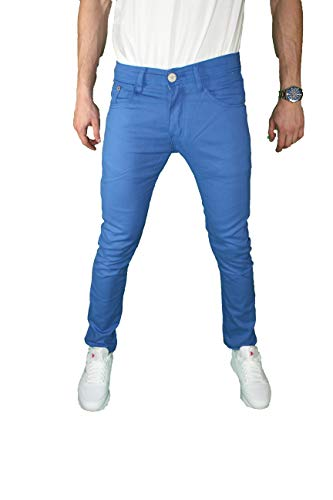 Mens Skinny Jeans Slim Stretch FIT Slim FIT Trouser Pants Fashion Casual (Royal, 36X30)