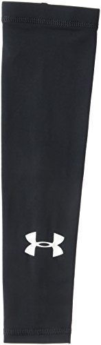 Under Armour Boys' Performance HeatGear Arm Sleeve, Black (001)/White, One Size Fits All