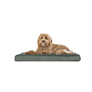 FurHaven Deluxe Orthopedic Pet Bed Mattress for Dogs and Cats, Forest, Large