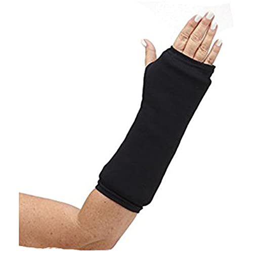 """CastCoverz! Designer Arm Cast Cover - Black - Medium Short: 11"""" Length X 9"""" Circumference - Removable and Washable - Made in USA"""